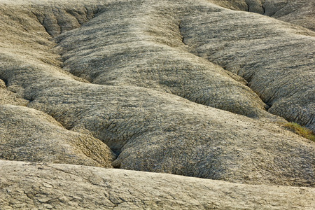 turism: Dried mud waves from Mud Volcanoes Buzau Romania Note to editor: