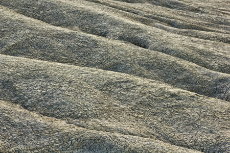 Dried mud waves from Mud Volcanoes Buzau Romania Note to editor: