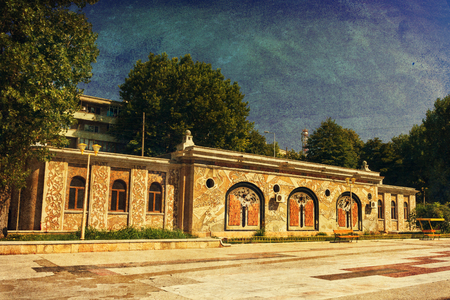 aquarium visit: Public Aquarium building in Constanta Romania near the Black Sea Stock Photo