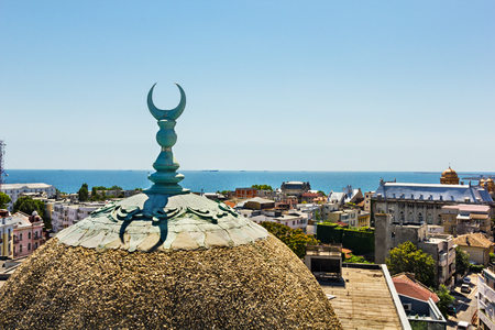 View over Constanta Romania , from the old town center mosque tower