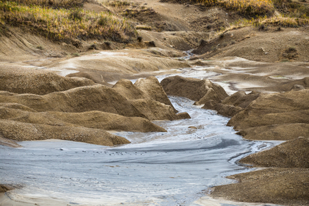 Nature landscape from the land of Buzau mud volcanoes in Romania