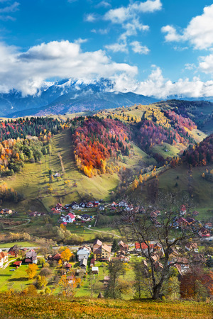 Fundata mountains region in Brasov county Romania