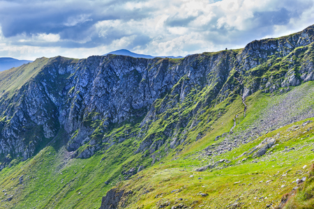 Fagars mountains in Romania during summer at Nerlinger monument Stock fotó