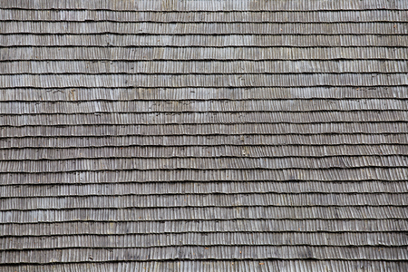 Old shingle roof pattern from old romanian village house