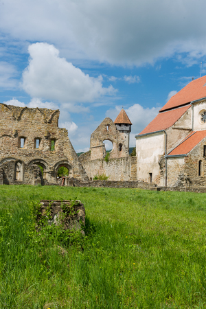 Cistercian order monastery abandoned in Carta, Sibiu county, in Romania