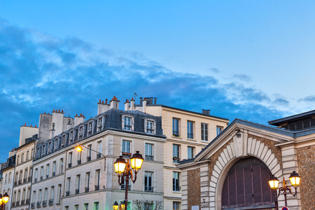 Classic architecture of builduings in Versailles city, in France at dusk Stock fotó