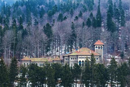 Restorated beautiful castel on famous Prahova Valley Romania - Cantacuzino castle