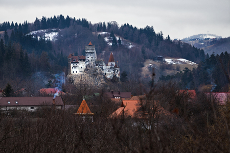 Bran castle, during winter day, also known as Dracula castle Sajtókép