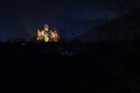 Bran castle, during night, also known as Dracula castle