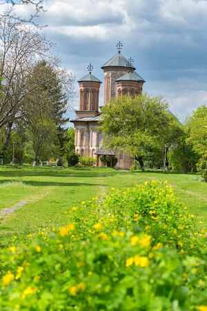Picturesque monastery near Bucharest, placed on Snagov lake on a small island Stock Photo