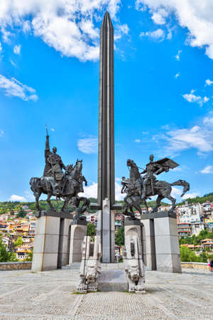 Asen dynasty monument in Veliko Tarnovo, touristic city in Bulgaria