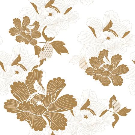 Nouvel an décoration et ornements illustration vectorielle dans un style japonais.