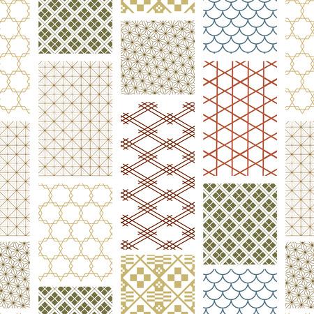 日本語パターンベクトル。包装紙、壁紙、背景、車、ポスターの幾何学的背景。