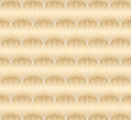 Gold geometric pattern vector. Oriental background. Line elements in gradient color.