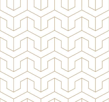 Line pattern vector. Gold geometric background. Oriental elements.