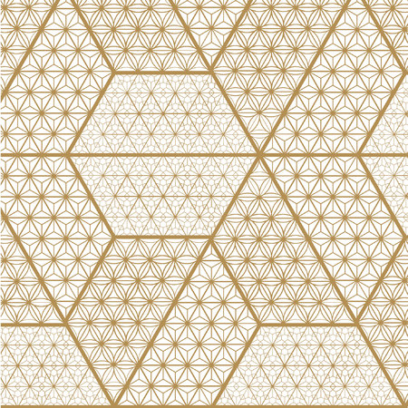 Japanese Gold background and pattern. Gold geometric texture.The exquisitely delicate side of traditional woodwork style-rooms to create a stunning atmosphere.