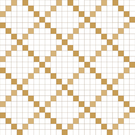 Gold geometric pattern vector. Tile background. Wrapping paper, template, backdrop, cover page design.  イラスト・ベクター素材