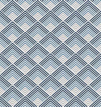 Geometric pattern vector. Blue Japanese background. triangle elements. Vector Illustratie