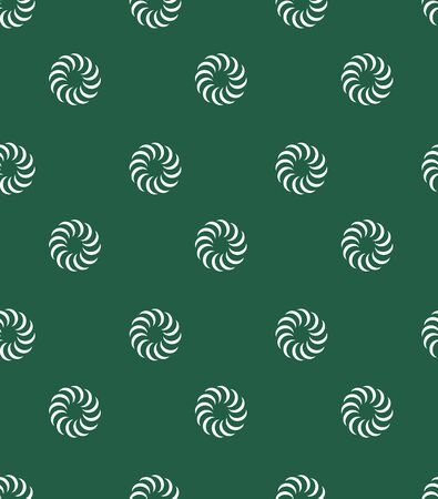 Green Japanese pattern vector. Circle background.