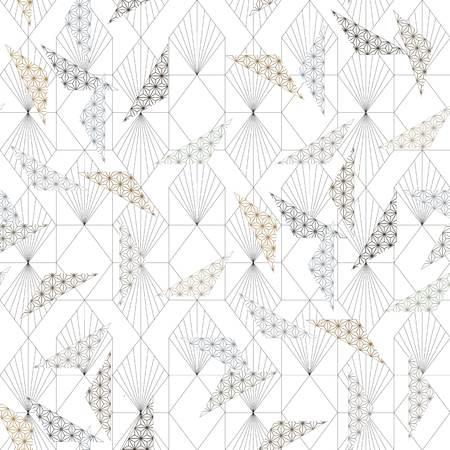Japanischer Mustervektor. Geometrischer Hintergrund. Zierschablone der asiatischen Linie.