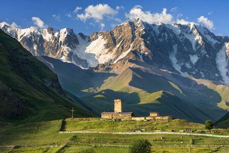 Blick auf den Kaukasus, Kaukasus, Swanetien