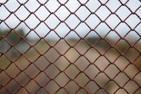 Metal mesh, landscape, background image advertising  text insertion