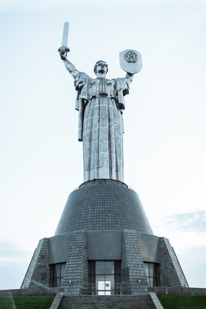 statue kiev, high, nature, background image advertising text insertion Stock fotó - 90949050