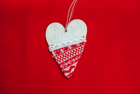 red background, Background for text, new year, Christmas image, Beautiful heart. The best photo