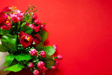 love, Valentine's Day gift for the second half, a bouquet of flowers, roses, romantic photo, background, suitable for ads, insert text 写真素材