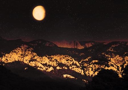 night landscape Stock Photo - 17167524