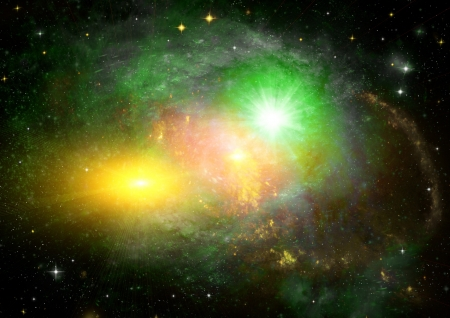 galaxy in a free space Stock Photo - 17316267
