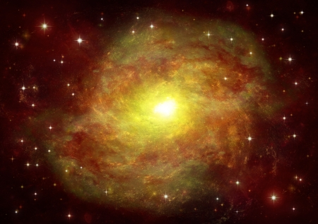 vast: Stars of a planet and galaxy in a free space  Elements of this image furnished by NASA