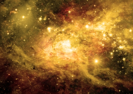 Stars of a planet and galaxy in a free space Stok Fotoğraf - 22648208