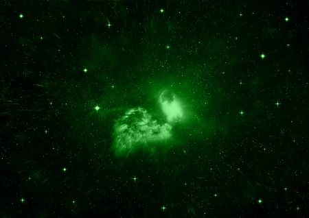 nebulae: Stars of a planet and galaxy in a free space