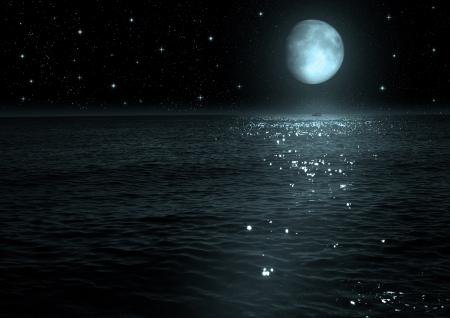 moon iThe n the night sky    photo