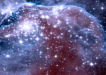 nebulae: galaxy in a free space Stock Photo