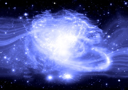 vas: galaxy in a free space Stock Photo