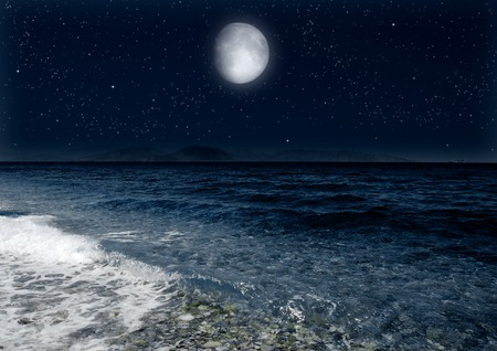 moon in the night sky 写真素材