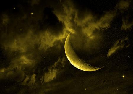 moon in the night sky photo