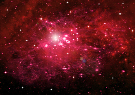 galaxy: Stars of a planet and galaxy in a free space