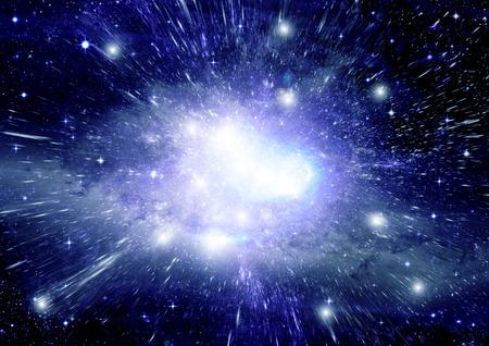 Sterne des Planeten und Galaxien in einem freien Raum