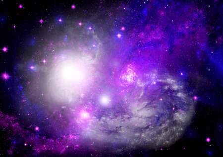 congestion: Star field in space a nebulae and a gas congestion.   Stock Photo