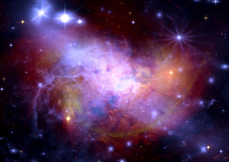 congestion: Star field in space a nebulae and a gas congestion