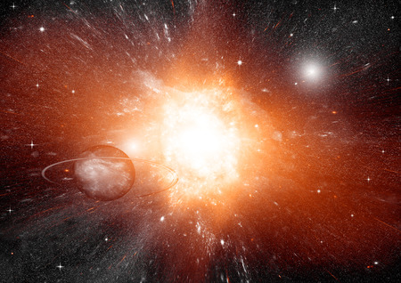 brilliance: galaxy in a free space Stock Photo