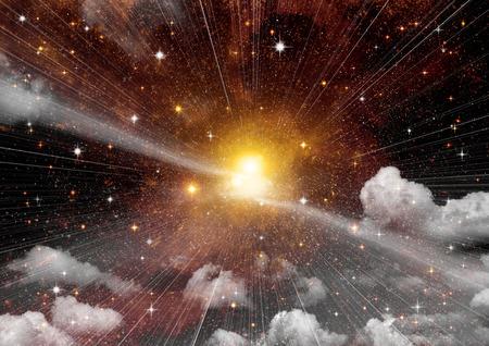 nebula: Stars, dust and gas nebula in a far galaxy
