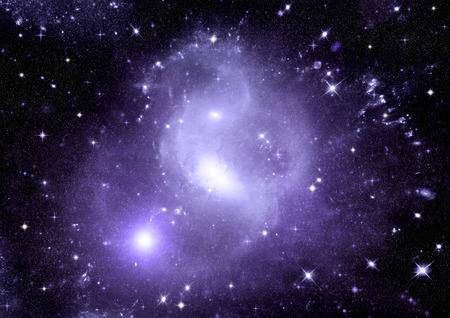 origins: Stars, dust and gas nebula in a far galaxy