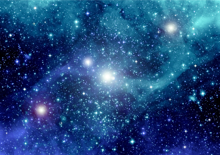 galaxy: galaxy in a free space Stock Photo