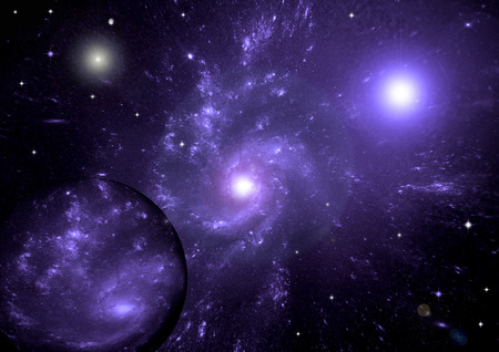 free space: galaxy in a free space Stock Photo