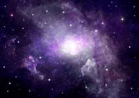 nebulae: Star field in space and a nebulae Stock Photo