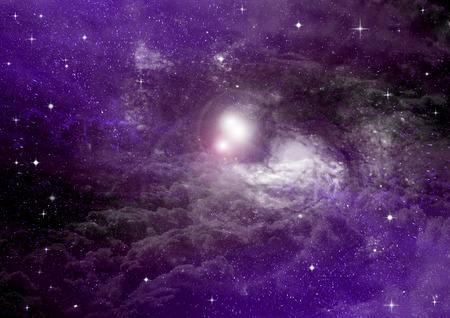Campo de estrella en el espacio y un nebulosas Foto de archivo